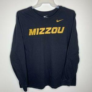 Nike Mens XXL Black Athletic Cut Mizzou Missouri
